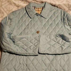 Burberry Diamons Quilted Blue Coat